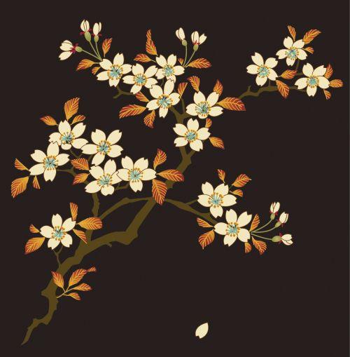友禅染の桜