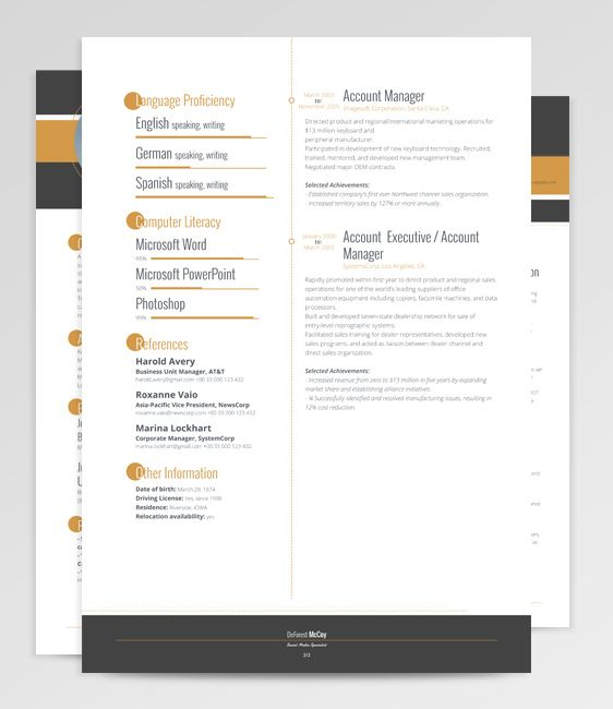 Creative Resume Design, Resume Style, Resume Design, Curriculum - Modern Resume Styles
