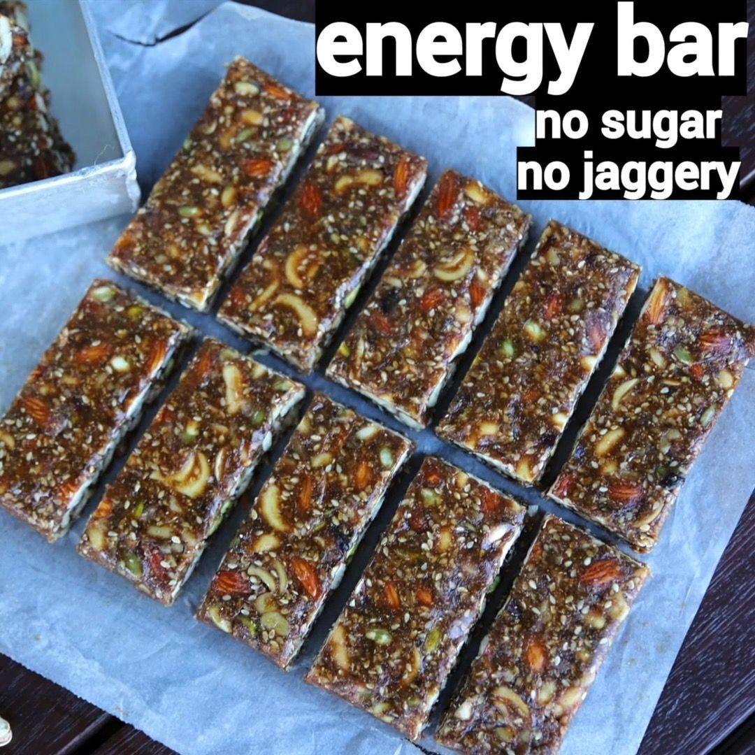 energy bar recipe no sugar no jaggery energy bar nosugar diabetic diabeticrecipes on hebbar s kitchen videos snacks id=31753