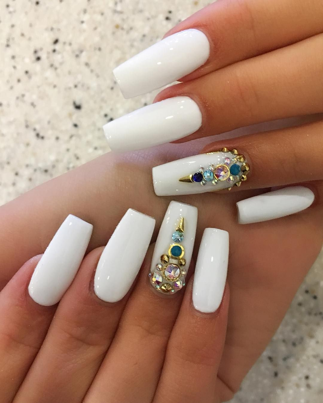 120 Best Coffin Nails Ideas That Suit Everyone Short Coffin Nails Designs Nails Design With Rhinestones Rhinestone Nails