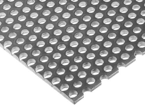 A36 Steel Perforated Sheet Unpolished Mill Finish Hot Rolled Staggered 0 1875 Holes Astm A36 0 036 Thickness 20 Gauge 12 Width 24 Length 0 25 Center To Center Biss Perforated Metal Steel Expanded Metal