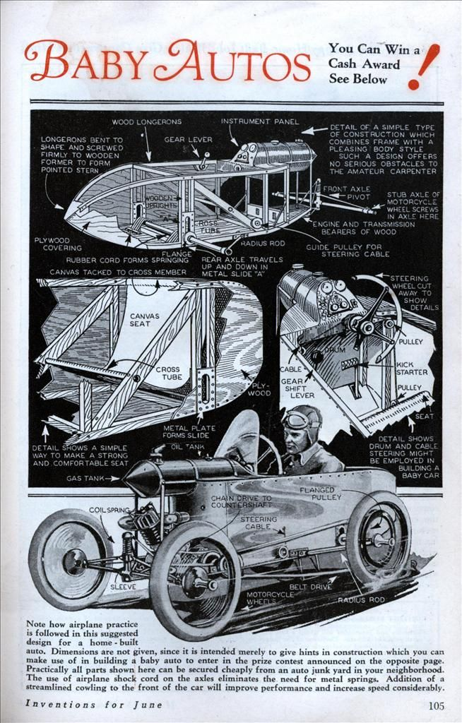 A cool how to build a simple cycle-car. | DIY Styles & Concepts ...