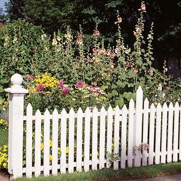 If cost is an issue, mix different types of fences Wood picket