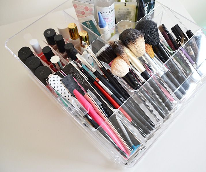 Ikea Godmorgon acrylic makeup storage