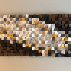 Geometric wood wall art, Reclaimed Wood Art, Mosaic wood art, Geometric wall art, Rustic wood art, Wooden art, Wooden panel #reclaimedwoodwallart