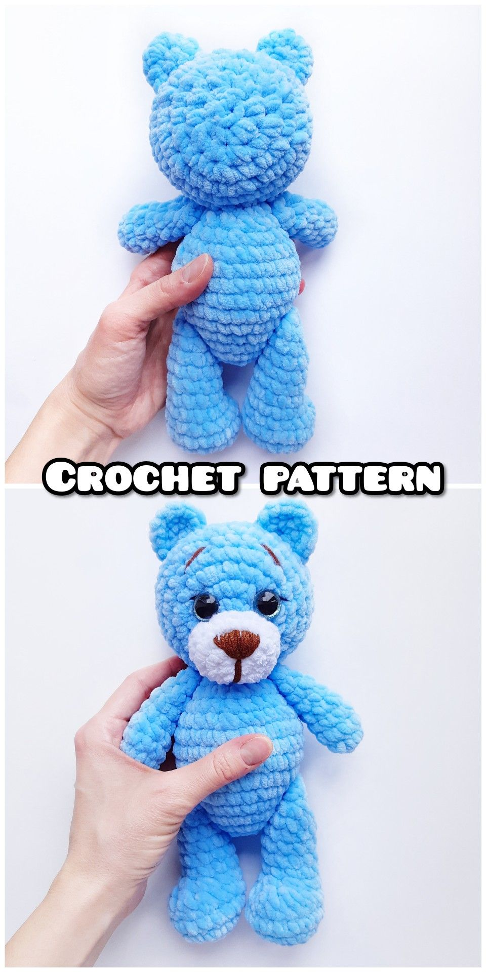 CROCHET PATTERN bear toy – Amigurumi pattern teddy bear – crocheted toy Pattern in English – Crochet animal – Pdf Plush tutorial – Knit toy