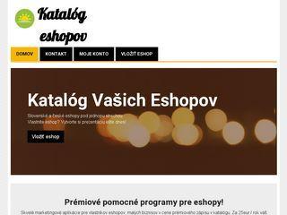Katalóg Eshopov