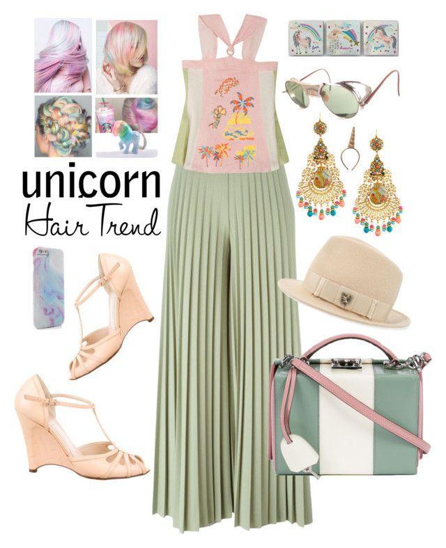"""""""Head Turner: Unicorn Hair"""" by michele-nyc ❤ liked on Polyvore featuring beauty, Givenchy, Peter Pilotto, Fendi, Mark Cross, Jose & Maria Barrera, My Little Pony and Philip Treacy"""