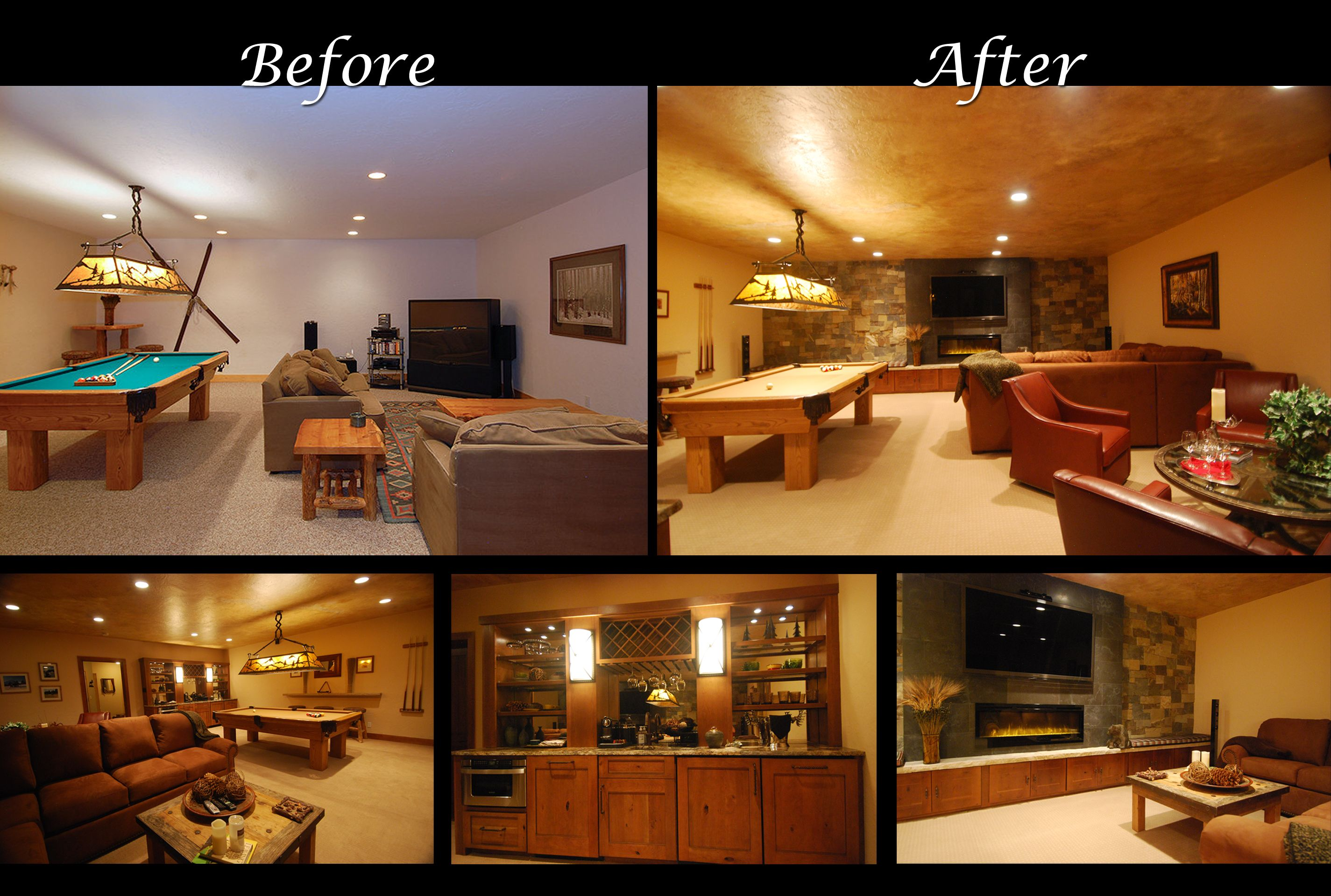 Game Room Before and After Mountain home interiors, Home