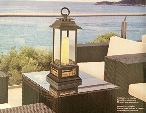 powerheat electric candle lantern patio heater with rem https