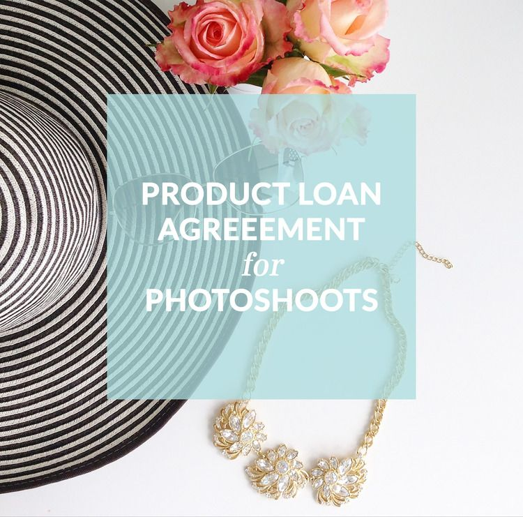 Product Loan Agreement For Photoshoots  Contract Template  Girl