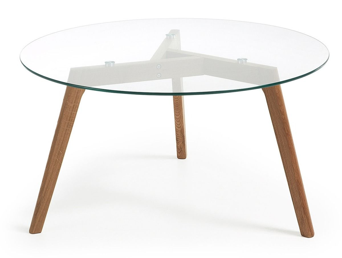 Laforma Stolik Kawowy Brick O90 Cm Szklany Nogi Drewniane Laforma C605c07 9design Warszawa Coffee Table Furniture Table [ 907 x 1200 Pixel ]