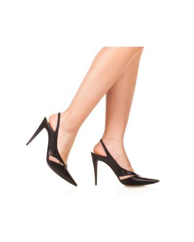 Punta López En Con Fina De Pura Destalonados Piel Zapatos Negros 7qFvYwO