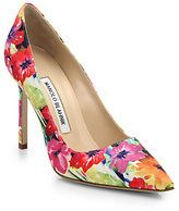 Manolo Blahnik Bright Floral BB Pumps
