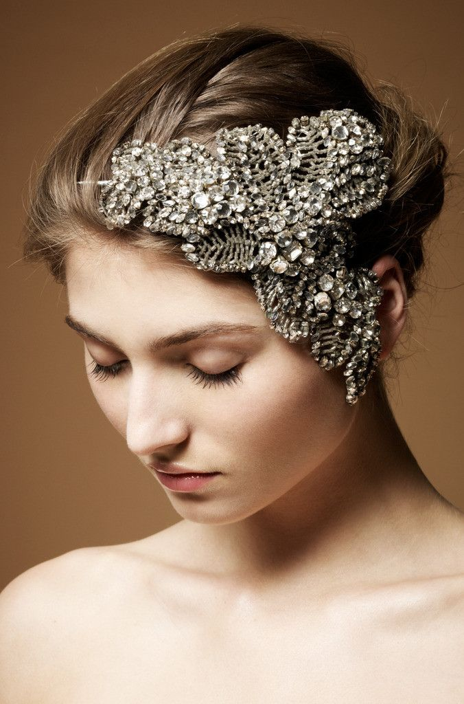 Jenny Packham Acacia Bridal Headdress III Silver