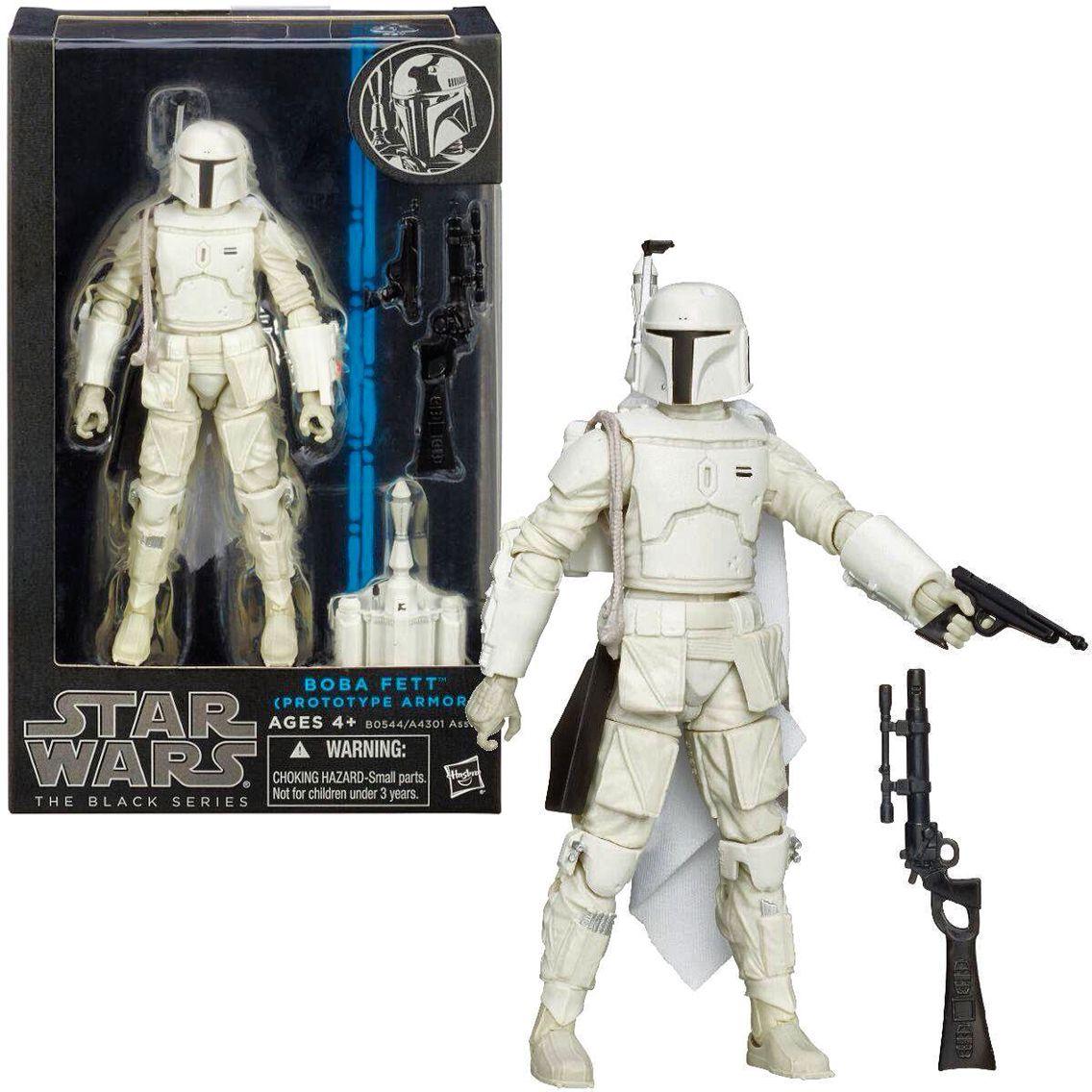 "New Star Wars The Black Series Boba Fett Prototype Armor White 3.75/"" Figure"