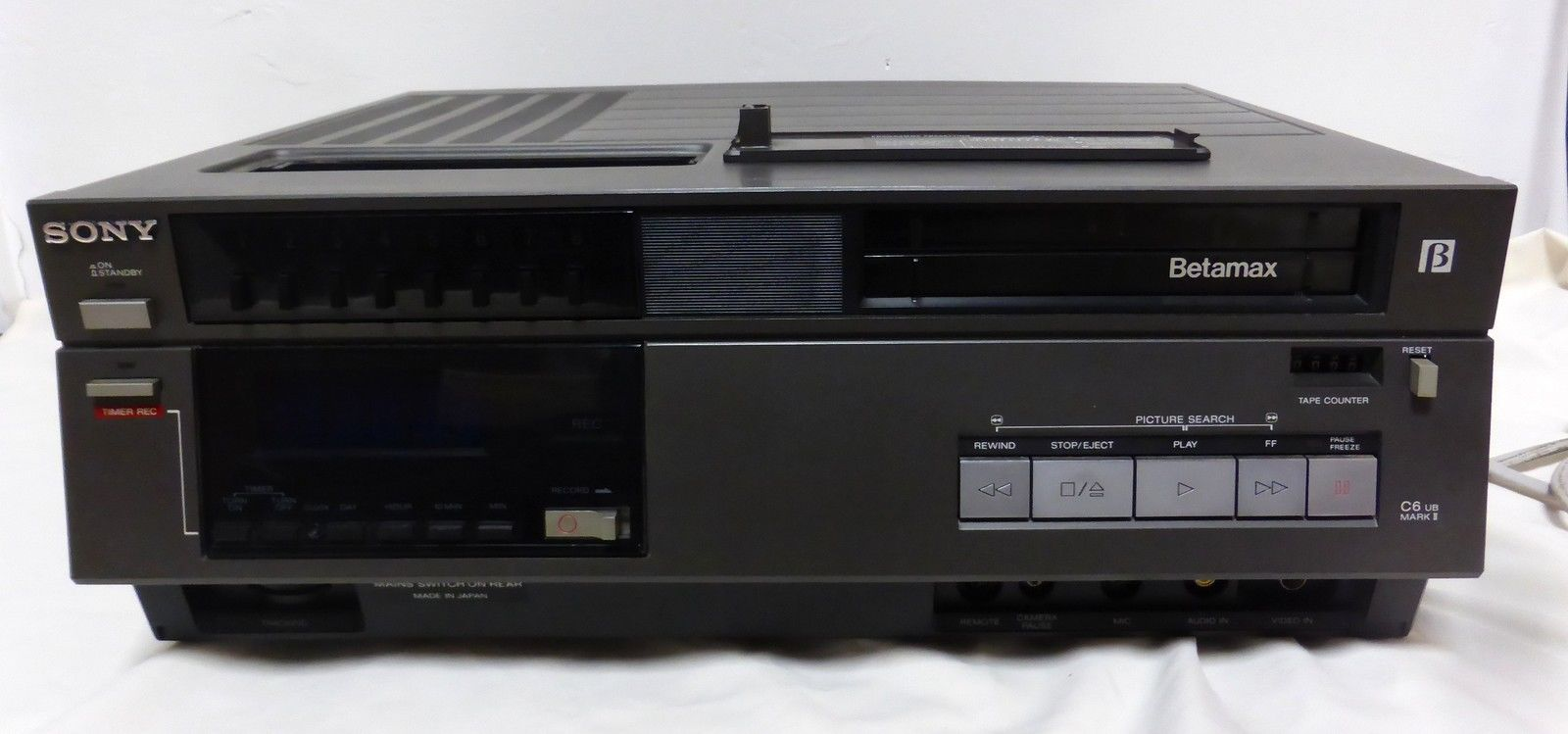 Sony Betamax C6 Ub Mark Ii Video Recorder For Spares Or Repair Ebay