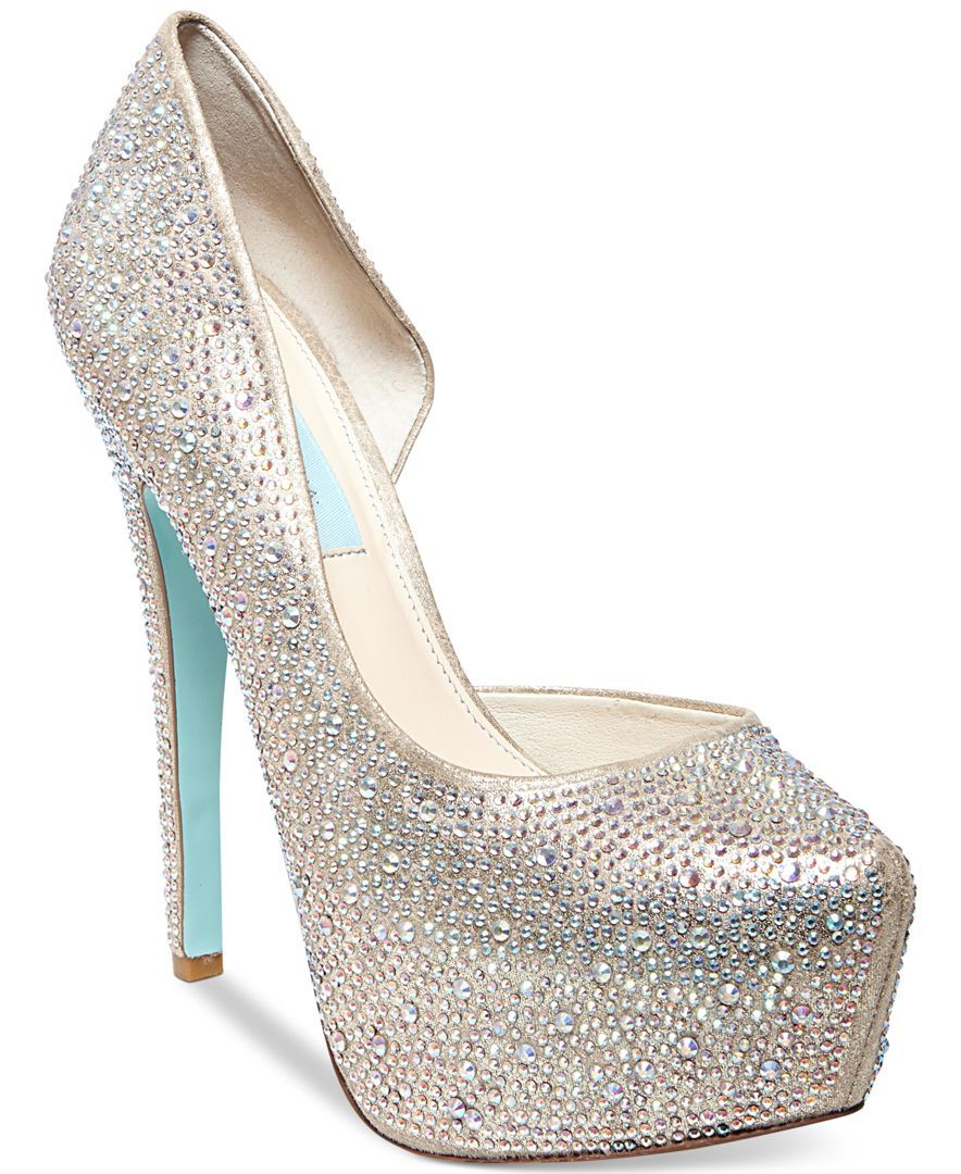 Blue by Betsey Johnson Star Platform Evening Pumps | Shoes ...