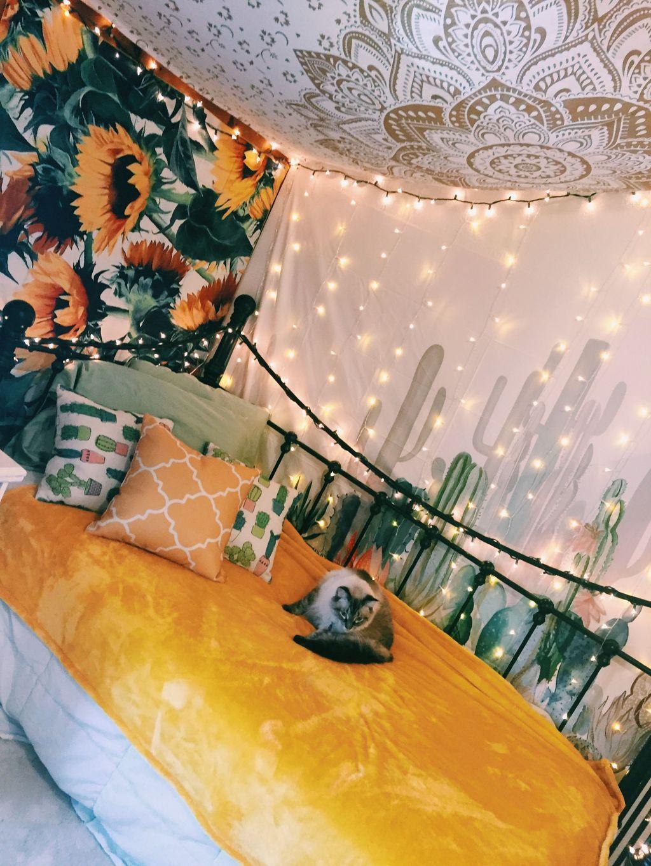34 Lovely Yellow Aesthetic Room Decor Best For Bedroom ...