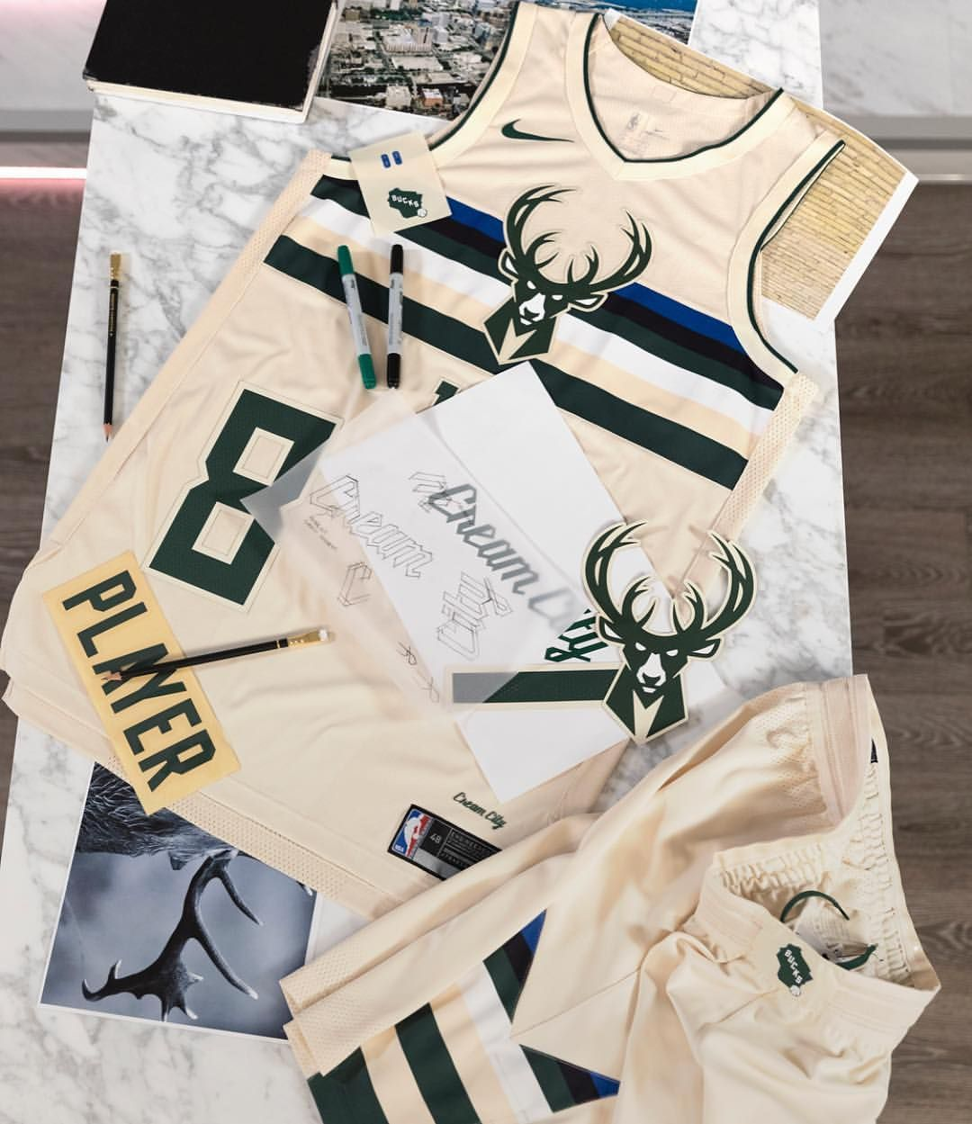"timeless design 50083 b731f Milwaukee Bucks' ""Cream City"" unis. | Milwaukee Bucks ..."