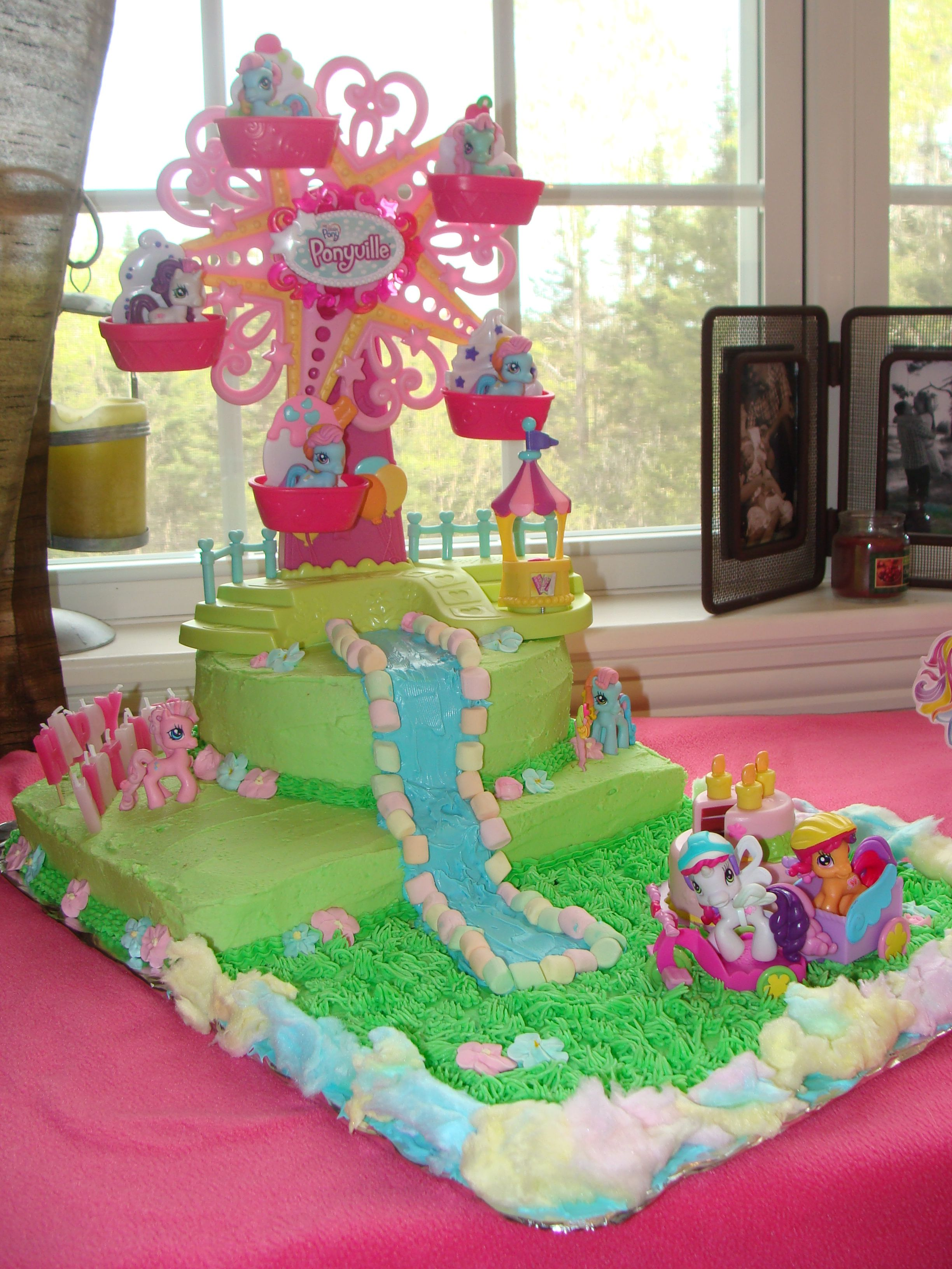 My Little Pony Birthday Cake Made By My Momma For Our Little Ladys
