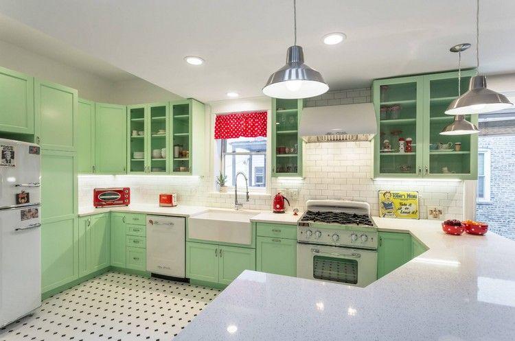 Cucina con piastrelle retrò spazio cucina pinterest cucine