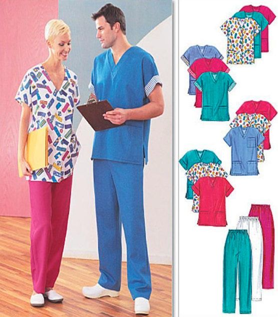 PLUS SIZE SCRUBS Sewing Pattern Unisex Scrub Tops Pants Cardigan Awesome Scrub Patterns