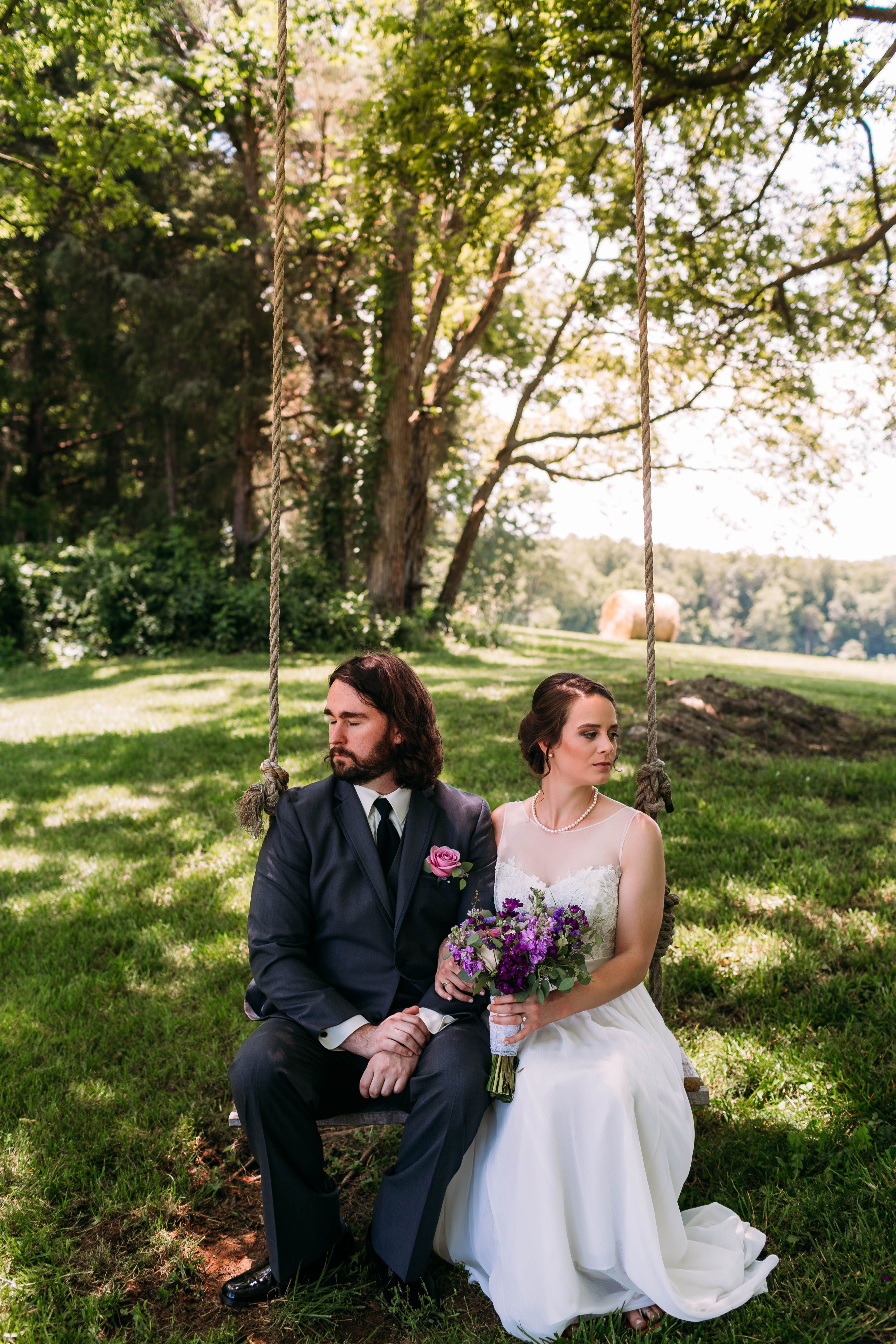 Outdoor rustic lavender and ivory wedding knoxville knoxville