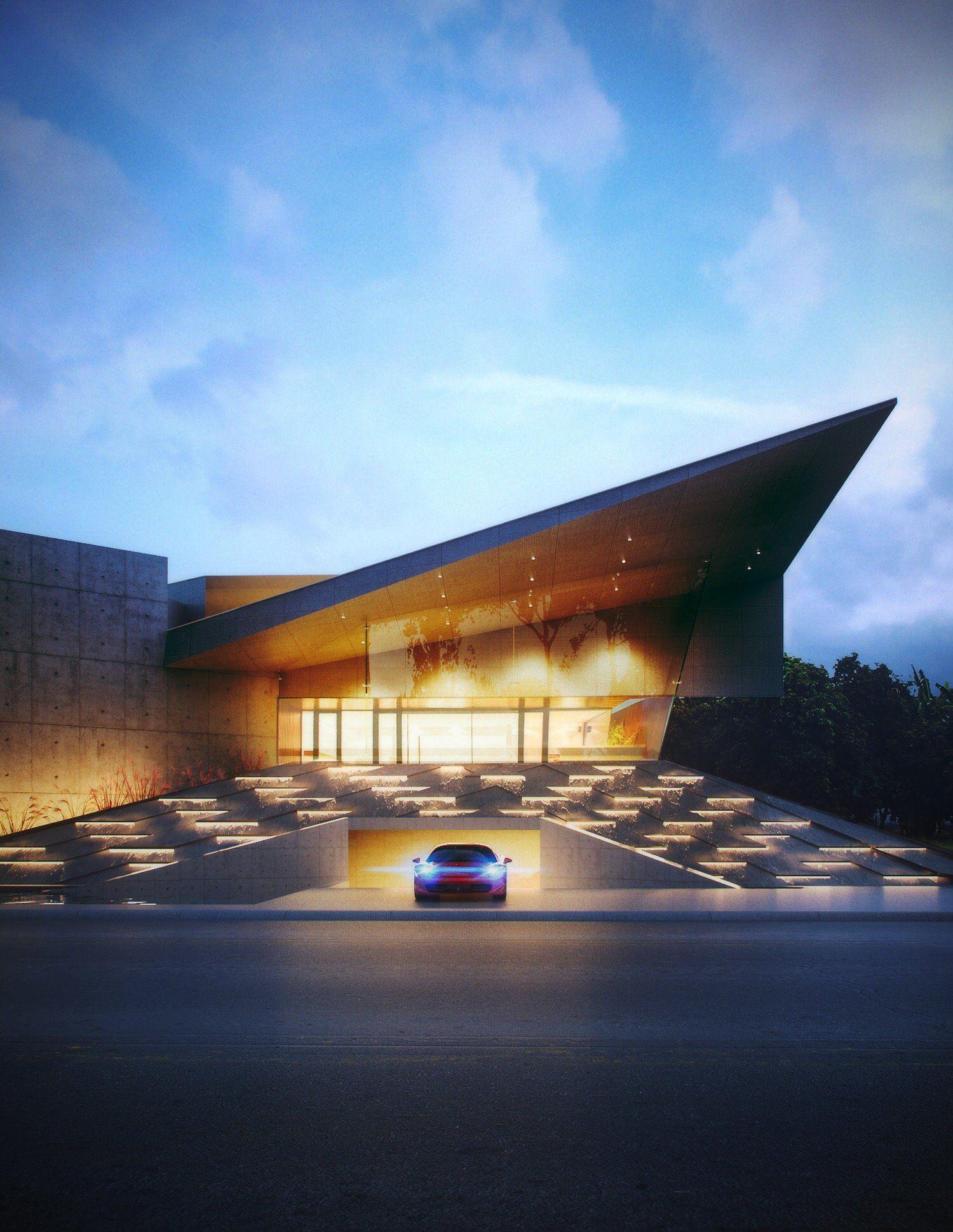 Modern Architecture Villas villa jumeirah in dubaicreato #architecture #contemporary