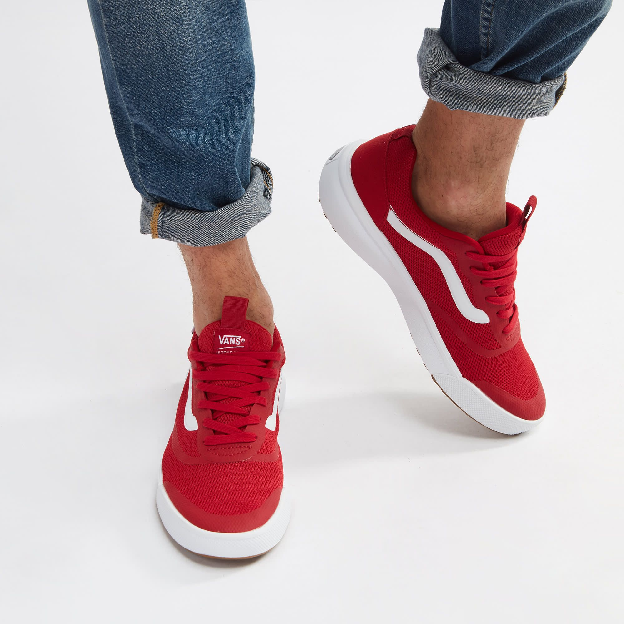 15b8cc8803 Shop Red Vans UltraRange Rapidweld Shoe for Mens by Vans