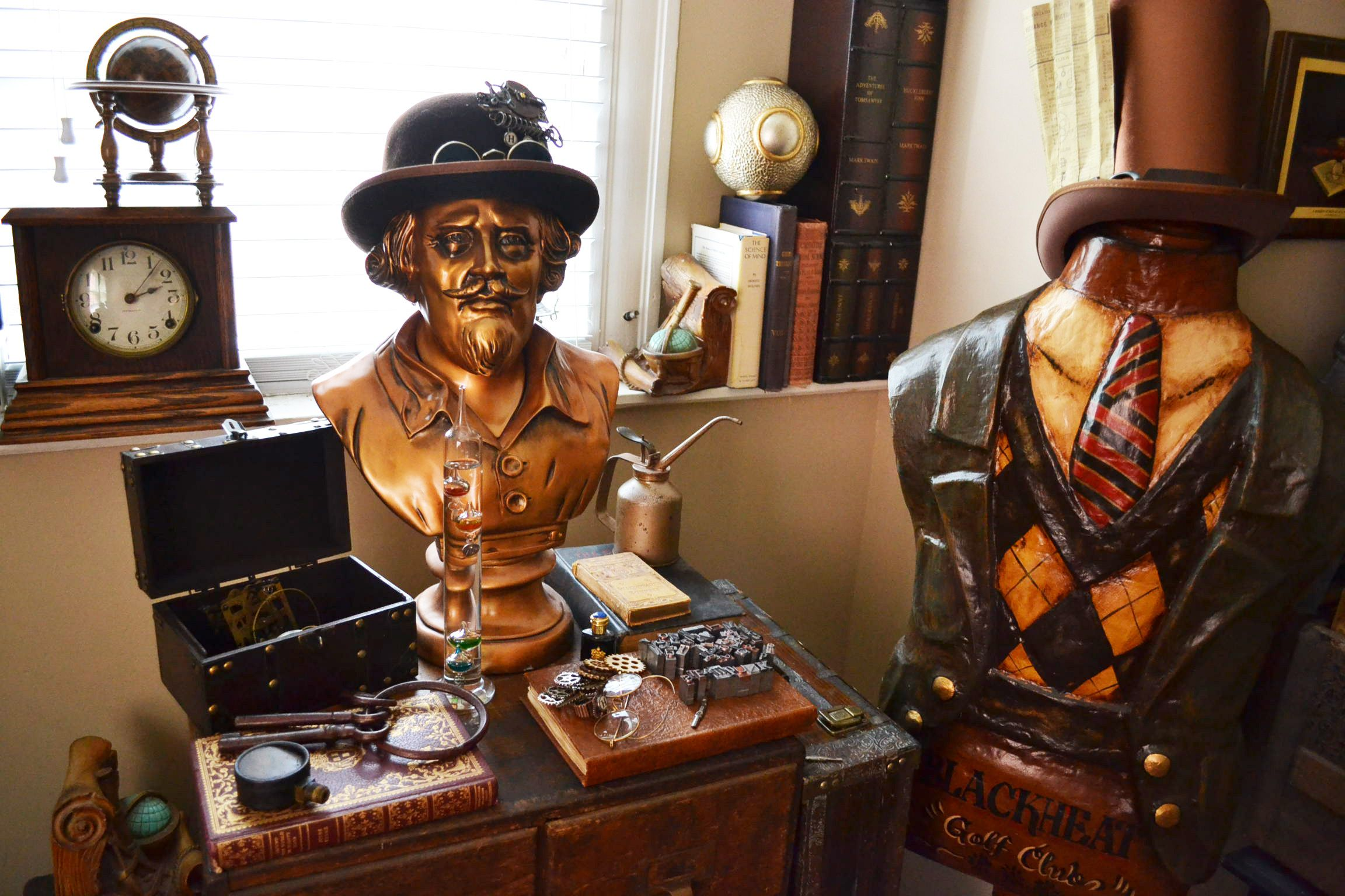 A Steampunks Living Room Steampunk Home Decor A