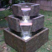Cascadia falls fountain | Water fountain design, Backyard ... on Cascadia Outdoor Living Spaces id=77343