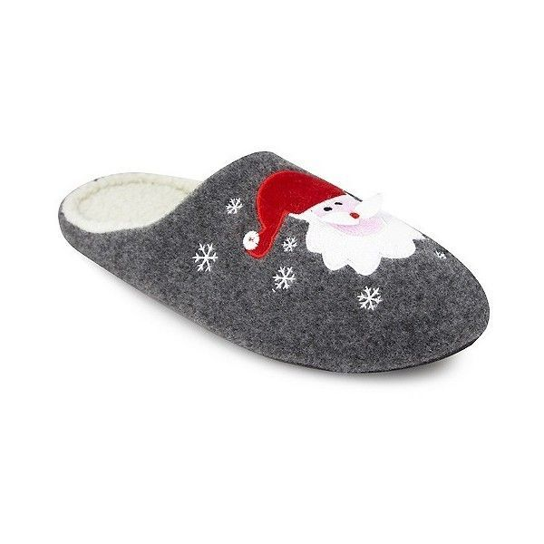 3c157eff7e1c Men s Ugly Christmas Slipper Santa Slide Slippers ( 15) ❤ liked on Polyvore  featuring men s
