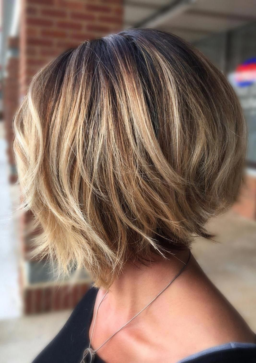 Stylish Layered Bob Hairstyles Bobhairstyles Frisuren Bob Frisur