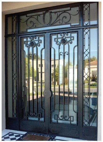 Puertas principales modernas de herrer a aww pinterest Puertas de metal para interiores