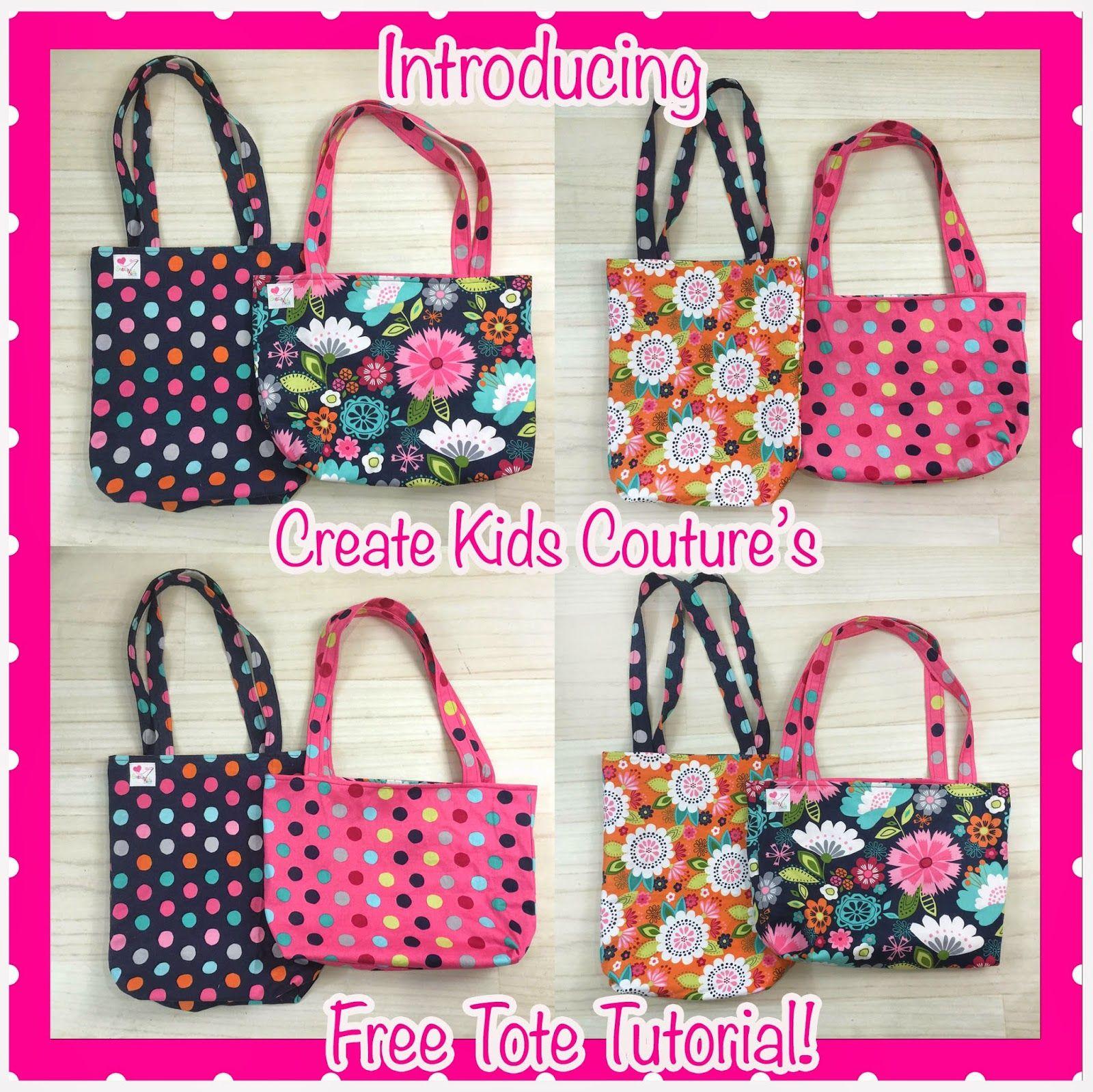 Free Tote Bag Tutorial! Easy to Sew! Tote bag pattern
