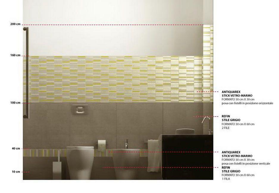 Bagno Sottoscala Altezza : Altezza rivestimento bagno bathroom bagno