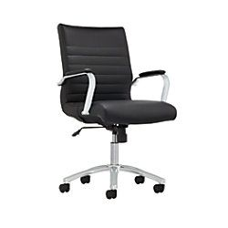 Reale Winsley Mid Back Chair Black By Office Depot Officemax