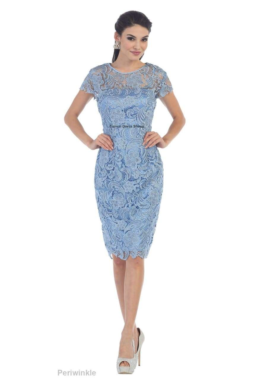 Classy short mother of the groom dress lace formal dress