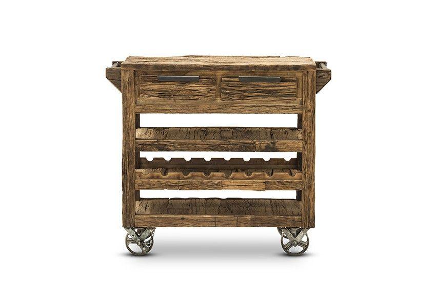 Küchenwagen Wild - recycletes Altholz - hellbraun - naturbelassen ...