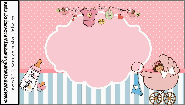 Cochecito Rosa de Bebé: Etiquetas para Candy Bar para