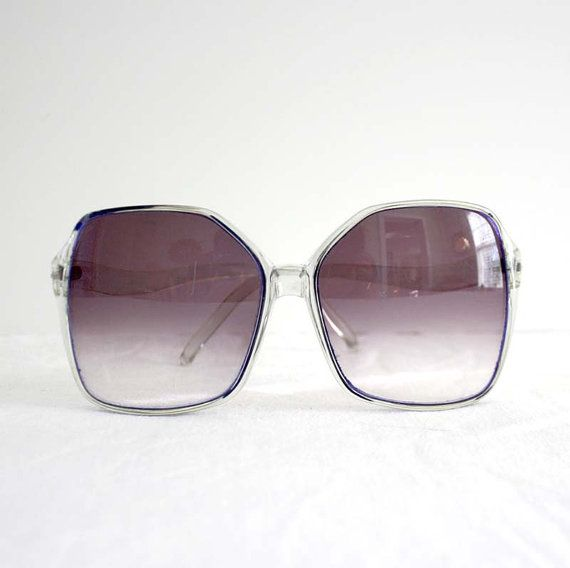 80s Oversize Vintage Retro Sunglasses Boho Hip Blue Foster Grant