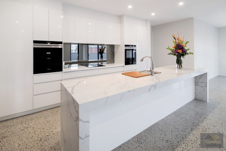 Polished concrete floor with white kitchen | Kitchens | Pinterest ...
