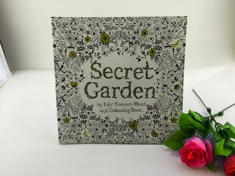 24 Pages Secret Garden Coloring Book For Children Adult Relieve Stress Kill Time Graffiti Painting Drawing