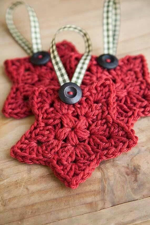 Crochet Star Ornament Pattern Pinterest Crochet Star Patterns