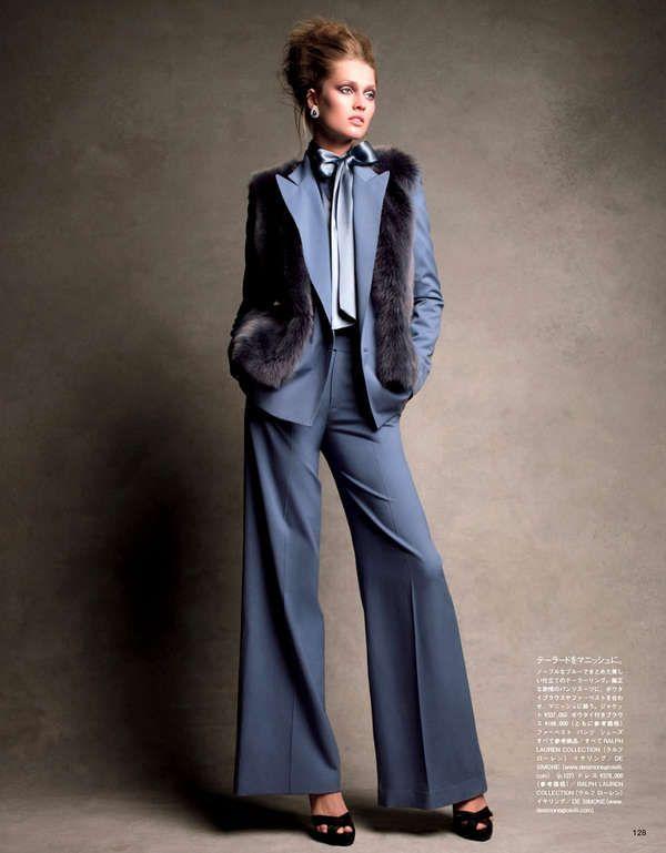 Sleek 70s Inspired Fashion Vogue Japan 70s Inspired Fashion Editorial Fashion