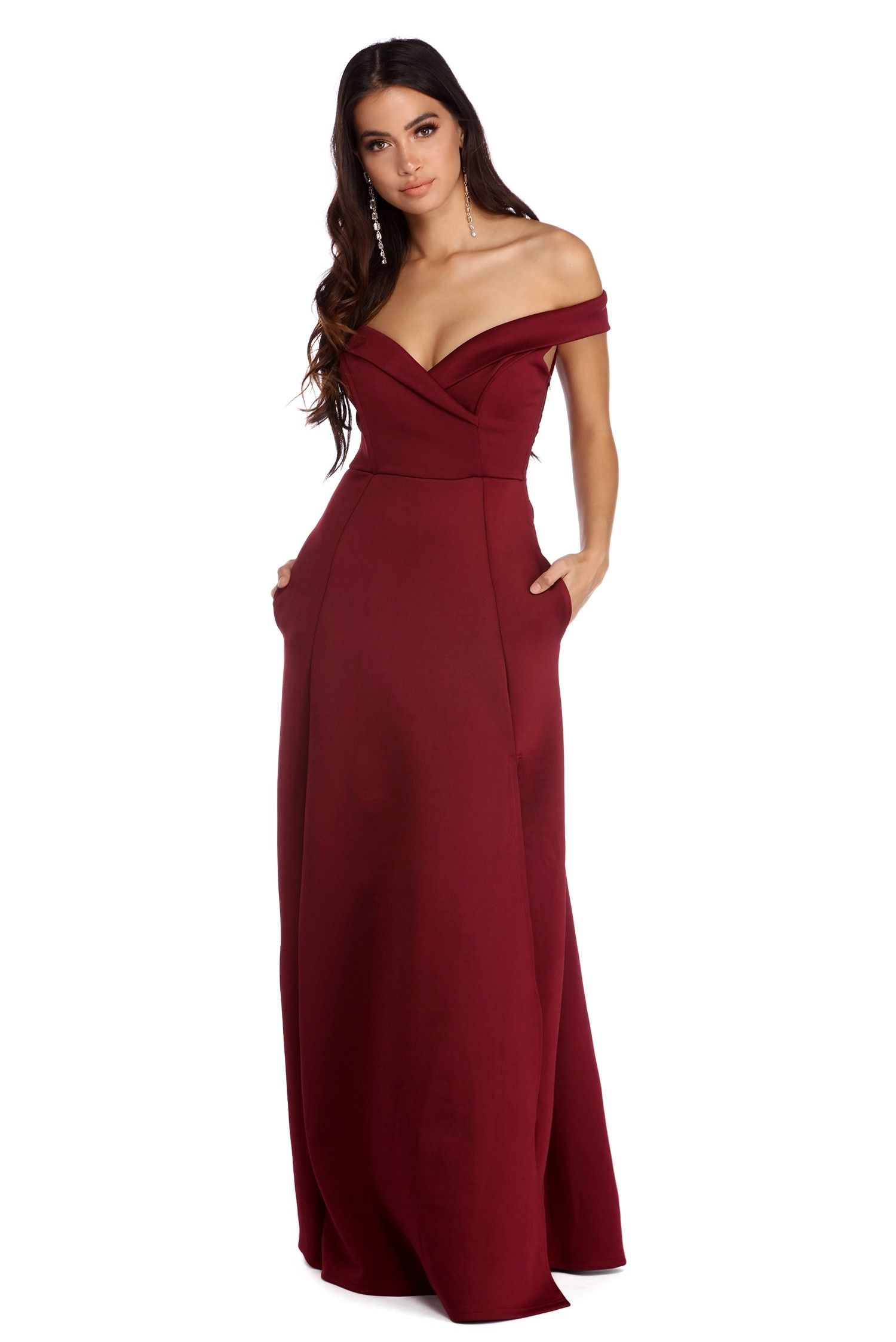 e1b47151e61320 Christine Off The Shoulder Ball Gown