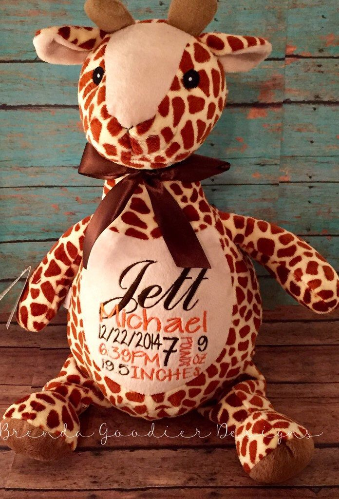 Personalized baby giftbaby cubbiesstuffed animalplush keepsake personalized baby giftbaby cubbiesstuffed animalplush keepsakegiraffe by brendagoodierdesigns negle Images