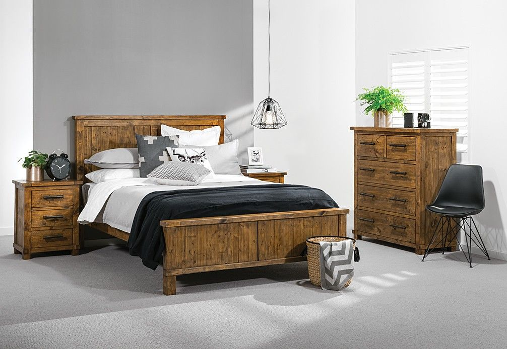 Industrial 4 Piece Tall Chest King Bedroom Suite | Super A ...
