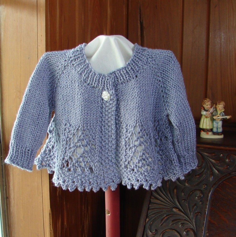 Women's Top Down Seamless Cardigan Knitting Pattern in Lamb's ...